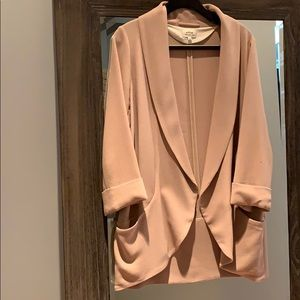 Wilfred Crepe Open Blazer